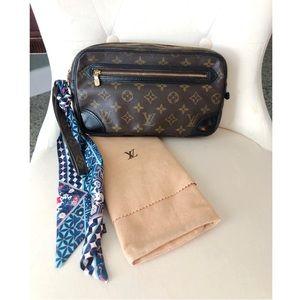 Louis Vuitton Clutch Dragonne Wristlet Pouch